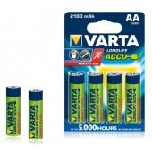 Аккумулятор  VARTA Longlife Accu 2 R06 2100 mAh 4*BL (056706101494)(4/40)