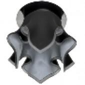 Светильник потолочный, CD2213 JCD9 G9  40W с черным  стеклом, хром