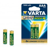 Аккумулятор  VARTA Professional Accu 2  R03 1000 mAh (2/20) (05703301402)