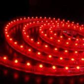 Лента светодиодная 60SMD (3528) 4.8W/m 12V 1m красный на белом LS603