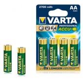 Аккумулятор  VARTA Professional Accu 4 R06 2700 mAh (4/40) (05706301404)