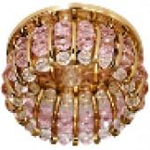Светильник потолочный, СD2119 JCD9 G9  с прозрачным-розовым стеклом,золото, с лампой