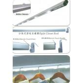 Светильник WF-ROD(L)-PIR/SW/VIB свет-ый штанга для одежды с датч. движения 12V, 886 мм, алюминий