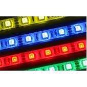 Лента светодиодная в силиконе  60SMD (3528) 4.8W/m 12V 1m синий на белом LS604